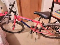 pink and black hardtail mountain bike Clearfield, 16830