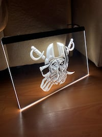 RAIDERS MASK LED NEON SIGN SIZE 8x12
