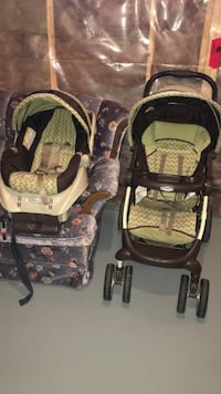 Graco stroller with car seat and base