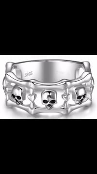 Brand New StunningSkulls 925 Sterling Silver Unique Bridal Band Ring Fredericktown, 85339