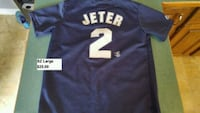 NY Yankees Jeter youth sz Large jersey