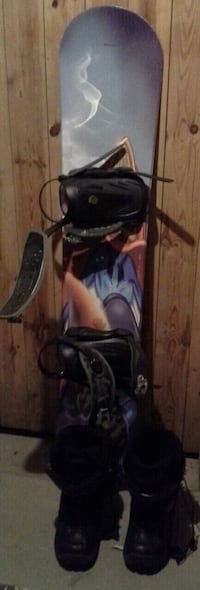 Snowboard str.134cm with binding and boots str.39