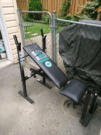 black and green bench press Toronto, M9A 1B7