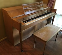 Vintage 50-60s Acrosonic piano with storage bench