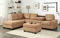 *Heights Taupe Reversible Sectional Houston