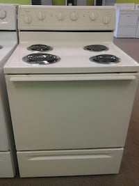 white Whirlpool 4-coil electric range oven Clayton, 27520