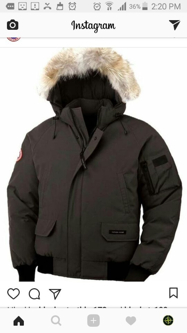 innovative design c2d8e 465b8 Used Svart Päls Canada Goose Zip Jacka For Sale In Stockholm Letgo