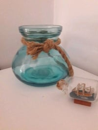 Glass pot and boat in bottle  Kent, CT6 7SD