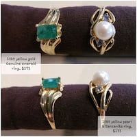 Two Rings--One Pearl, One Emerald Canaan, 03741