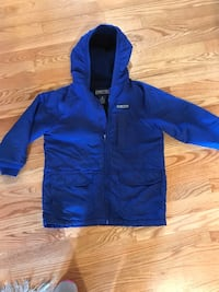 Lands ends jacket size large  kids. there is a zipper on inside too.