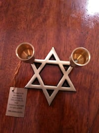 Gold Star of David candle holder  Manassas, 20110