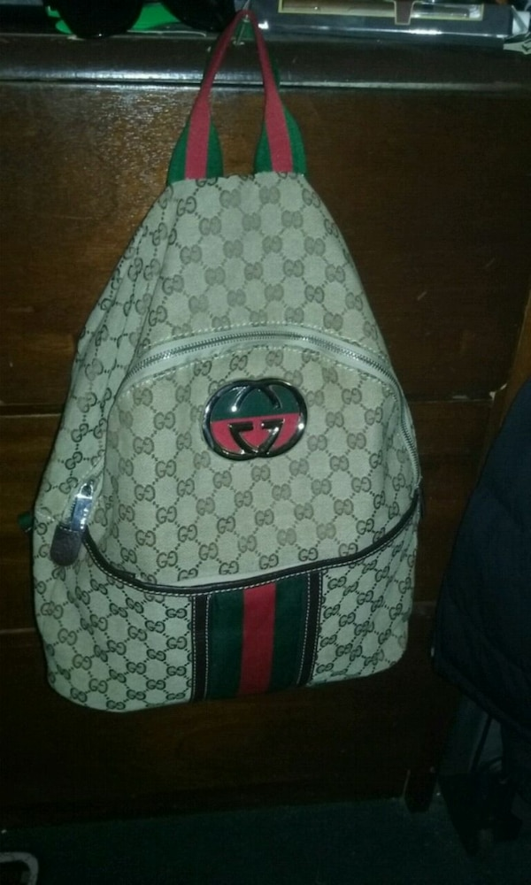 9d2ad37538a Used white and green Gucci backpack for sale in Atlanta - letgo