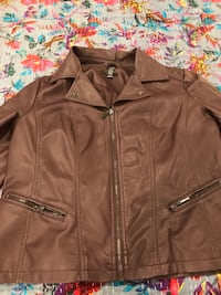 Deep purple faux leather jacket Los Angeles, 90036