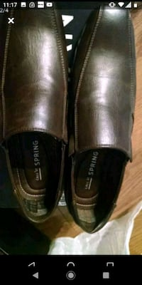 Men brown dress shoes size 8 Toronto, M9B 6K4