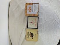 3 Vintage cigar boxes (metal)  New Westminster, V3M