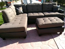 2 pcs sectionals and ottoman