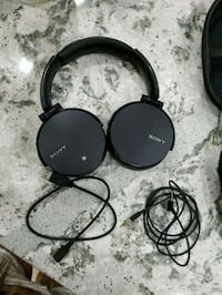black and gray Sony corded headphones Washington, 20008