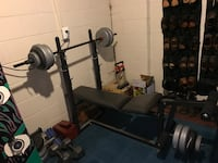 weight set and bench BURKE