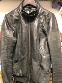 Sonia & Kyo women's black leather jacket sz M