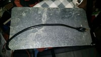 black and gray marble top table 434 mi