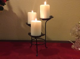 Beautiful candles and holder's