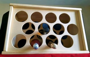 NEW    Solid timber 12-bottle Wine Rack