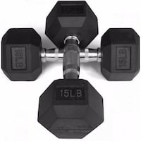 BRAND NEW RUBBER HEX DUMBELLS