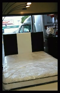 Black and White bed! Mattress and boxspring deals