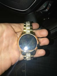 round gold-colored chronograph watch Akron, 44306