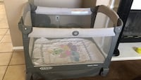 baby's gray and white Graco pack n play San Jacinto, 92583