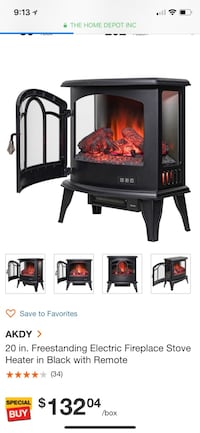 Fp0085- electrical fire place  Victorville, 92395