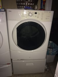 White front-load clothing dryer