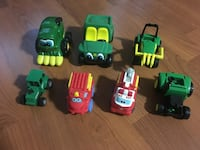 toddler's assorted plastic toys