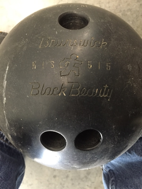 Used 50 Year Old Brunswick Black Beauty Bowling Ball For Sale In
