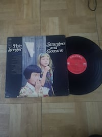 Pete Seeger Strangers and Cousins vinyl disc with case Toronto, M6B 3Y4