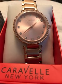 Brand new Luxury  Caravelle New York rose coloured watch  Calgary, T3A 4J5