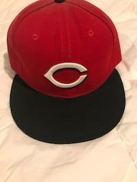red and black fitted cap Saugus, 01906