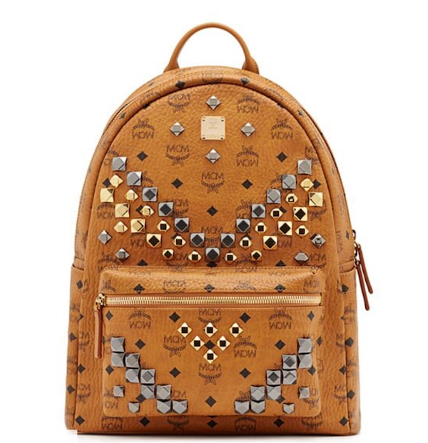 Authentic Mcm Stark M Stud Backpack