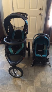 Baby's black and blue travel system $250 Calgary, T3A 4J7