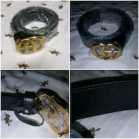 black and brown leather belt Uniondale
