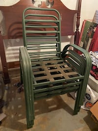 4 Metal Lawn Chairs