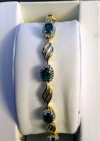 JCPenney Gold and Emerald Bracelet