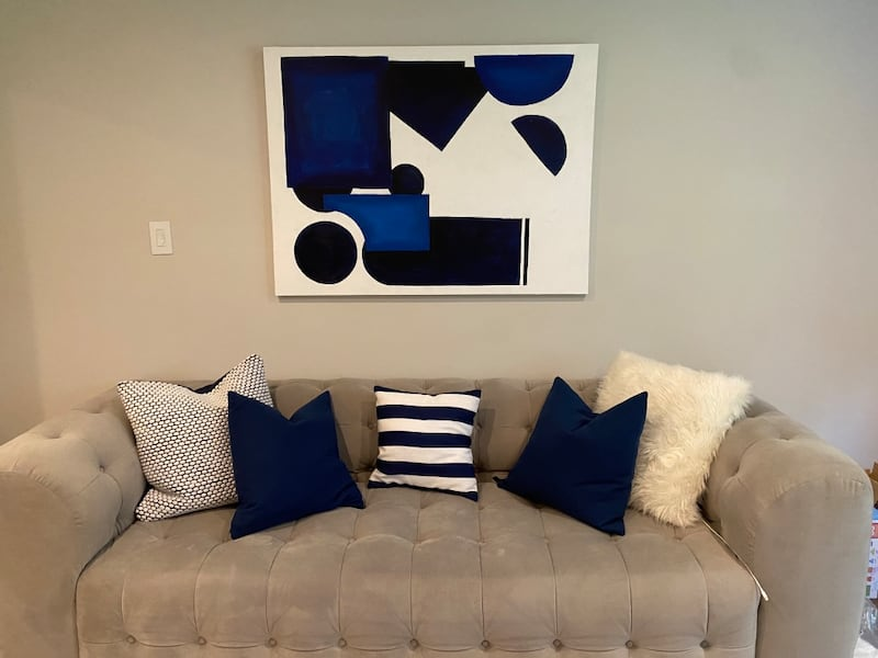 Originial Modern abstract painting (matching pillows included)! 92b509f6-4e18-4baf-b339-1480c463afe6