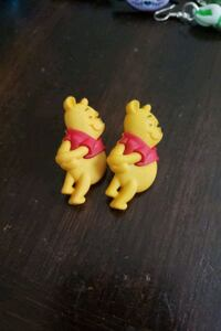 Pooh bear earrings