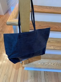Banana Republic Navy Soft Leather Tote