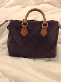 women's brown Louis Vuitton leather tote bag Vaughan