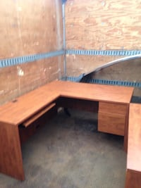 brown wooden framed glass top table London, N6G 5L6