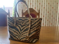 Michael Kors Jet Set Tote Bag Purse Zebra Print New Toronto, M8W 3P6