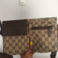 brown and black Gucci leather crossbody bag Surrey