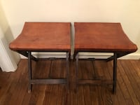 Brown Leather folding stools  Milford, 06460